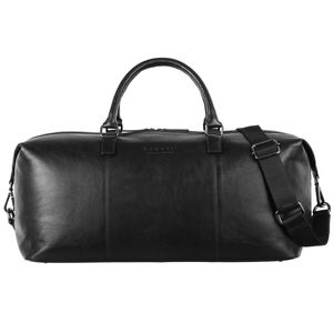 Bugatti Corso Leder Duffle Bag Reisetasche Travel Bag Weekender 493906, Farbe:Schwarz