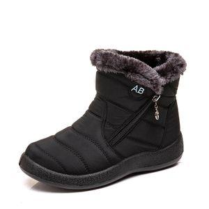 Winter-Schneestiefel Damen Pelzfutter Thermoärmel Stiefeletten,Farbe:Schwarz,Größe:39