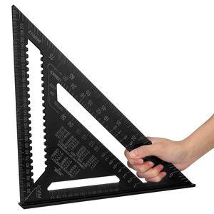 AUDEW 12 inch Aluminiumlegierung Dreieck Herrscher Professionell Dreieck Winkelmesser für Ingenieur Carpenter