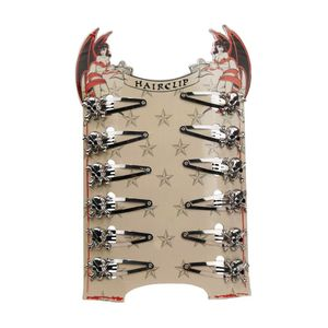 Totenkopf Haarclip Display