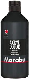 Marabu Acrylfarbe Acryl Color 500 ml schwarz 073
