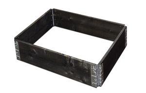 Gartenfreude Hochbeet Pflanzbeet 60 x 80 x 19,5 cm aus Fichtenholz, erweiterbar, schwarz lasiert, W4650-1003-001