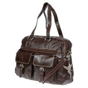 Kossberg große echt Leder Damen Umhängetasche Tasche Schultertasche Shopper Bag Braun