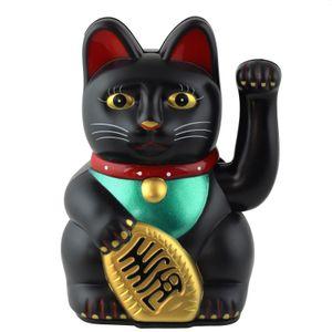 Glückskatze - Maneki-neko - Winkekatze - 13cm - schwarz