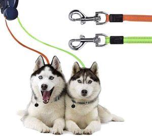 Doppelte Einziehbare Hundeleine Dual Doggie Pet Leash Hundeleine für 2 Hund Hundeleine Automatikleine Rollleine Haustierleine