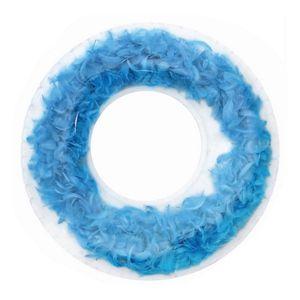 Schwimmreifen Aufblasbare Schwimmhilfe Feathers Blaue Federn (ø 105 cm)
