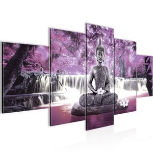 Buddha Wasserfall BILD :150x100 cm − FOTOGRAFIE AUF VLIES LEINWANDBILD XXL DEKORATION WANDBILDER MODERN KUNSTDRUCK MEHRTEILIG 503553c