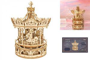 ROKR 3D-Holz-Puzzle 'Romantic Carousel'