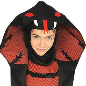 Fiestas Guirca kostüm Cobra Ninja junior schwarz Größe 110/116