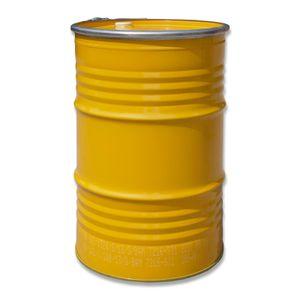 Maier Stahlfass Blechfass Spundfass Ölfass Deckelfass Metallfass, 213 Liter (gelb)