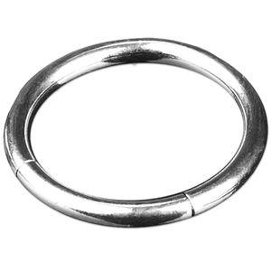 viva-adorno 1,2x8mm Segmentring Piercing Ring Chirurgenstahl in verschiedenen Farben und Größen Z228,Silber