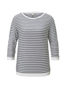 Tom Tailor Denim Damen Pullover 1017277 Blue White Structured Stripe