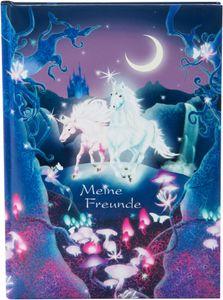 Goldbuch Freundebuch Unicorn, Hardcover, 88 Blätter, Mädchen, Mehrfarbig