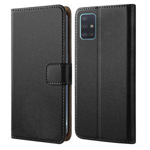 Samsung Galaxy A51 Schutz Hülle mit Aufstellfunktion Handyhülle  Klapp Tasche Etui mit Kartenfächer Flip Cover TPU innen Schale