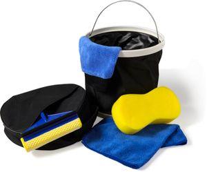 Autopflege Set faltbarer Eimer für Autowäsche Auto Reinigungsset 5 teilig Autowaschset