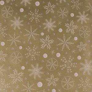 3 Rollen Weihnachts-Geschenkpapier Verpackungspapier Weihnachten Geschenkverpackung Motivwahl, Motiv:gold   Schneeflocke