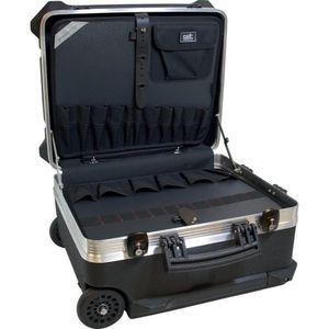 Promat Schalenkoffer rollbar 470x390x300mm Tragfähigkeit 40kg stapelbar