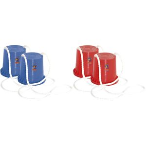 Hudora 76073-Rot-Blau 2 Paar Topfstelzen &quotJoey&quot (R
