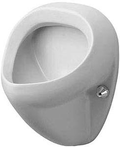 Duravit Urinal BILL 345 x 350 mm, Zulauf von hinten, mit Fliege weiß