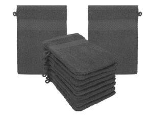 Betz 10er  Waschhandschuh Set PALERMO  Baumwolle Größe 16x21 cm Farbe  anthrazit