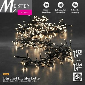 LED Weihnachten Lichterkette Warmweiß Weihnacht Party, Model:Büschel Lichterkette Cluster, Anzahl:384 LED