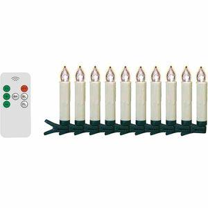 FHS LED kabelloses Christbaumkerzen-Set 10-teilig, außen 10 x 1,5 cm Ø ***NEU***