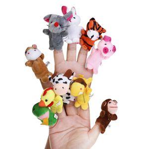 18 Stš¹ck Lernspielzeug Fingerpuppen Story Time Fingerpuppen 12 Tiere & 6 Personen Familienmitglieder spielen Hauszubeh?r