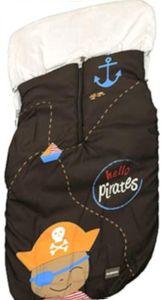 Gamberritos fußsack Pirat 105 x 50 cm braun