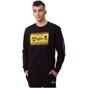 ALPHA INDUSTRIES RADIOACTIVE SWEATER Herren Pullover, Größe:S, Alpha Industries Farben:Black