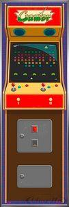 Arcade Gamer Langbahnposter Spielekonsole(158x53cm) gerahmt