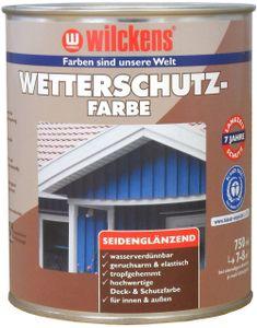 Wilckens Wetterschutzfarbe 750 ml, Innen, Außen Taubenblau RAL 5014, Seidenglänzend