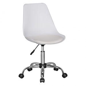 AMSTYLE KORSIKA | Drehstuhl Kunstleder Weiß | Drehsessel Wartezimmerstuhl | Schreibtischstuhl Rückenlehne verstellbar