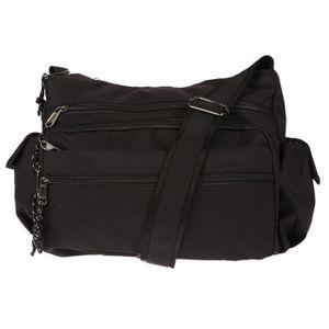 Christian Wippermann Damenhandtasche Schultertasche Tasche Umhängetasche Shopper Crossover Bag Schwarz