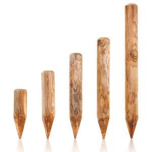 Holzpalisaden KDI Ø 10 x 90 cm in 13 Längen und 3 Stärken wählbar · spitz aus Kiefer imprägniert