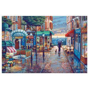 Puzzle 1000 Teile - Sternenhimmel-Landschafts-Ölgemälde - Puzzle für Erwachsene und Kinder - 1000 Teile Jigsaw Puzzle 70x50 cm
