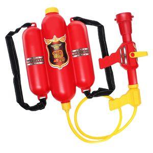 Kinder Feuerwehrmann Wasserspritze Rucksack,  Wasserpistole mit Düse und Tank - Kinder Outdoor Wasserspielzeug