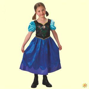 Rubies - Mädchen Anna-Kostüm - klassischer Stil - Anna - L (7-8 Jahre)