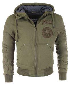 Yakuza Herren Rookie Winter Jacket Bomber Jacke Flieger Military Look WJB 16058 , Grösse:XL, Farbe:Oliv