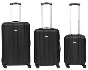 Packenger Koffer Line 3er-Set, M/L&XL, schwarz