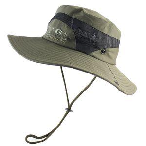 UPF 50+ faltbare Bucket Hat UV-Schutz Mesh-Breathable Männer Tactical Sonnenhut -(Armeegrün,)