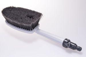 WASCHBÜRSTE mit Gartenschlauch-Anschluss Autowaschbürste Handbürste Bürste PKW