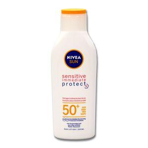 Nivea SUN Sensitive Sofortschutz Sonnenlotion LSF 50+, 200 ml