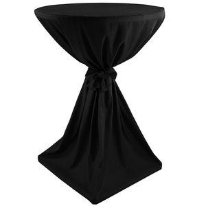 Stehtischhusse Classique Ø 70 cm Schwarz - klassische Husse für gängige Bistrotische und Stehtische - Tisch-Überzug