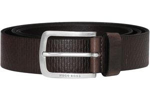 Boss 50435219-202 Herrengürtel mit Logo-Prägung Ledergürtel Braun, 105 cm