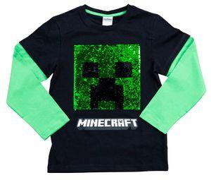 Minecraft Sweatshirt Creeper schwarz/grün Größe 116