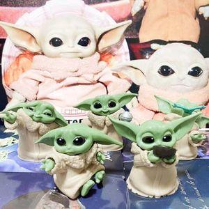 5 Stk Star Wars Baby Yoda Actionfigur Figuren Film Action Figur Spielzeug Sammeln Geschenk ActionFiguren Geschenke für Kinder