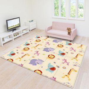 180x100cm Krabbelmatte Spielmatte Faltbar Doppelseitig Spielunterlage Baby Kinder Matte
