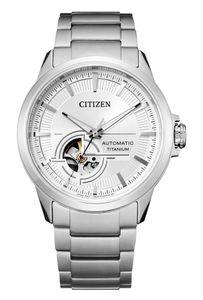 Citizen Herren Automatik Super Titanium Armbanduhr  offene Unruhe - NH9120-88A