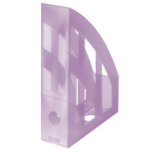 Herlitz Stehsammler / Plastik Stehordner / Farbe: transluzent pastell flieder