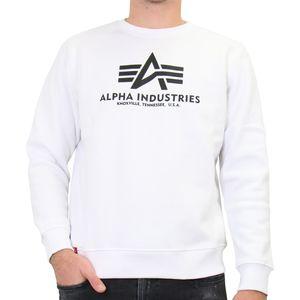 Alpha Industries Basic Sweater Herren Weiß (178302 09) Größe: XL
